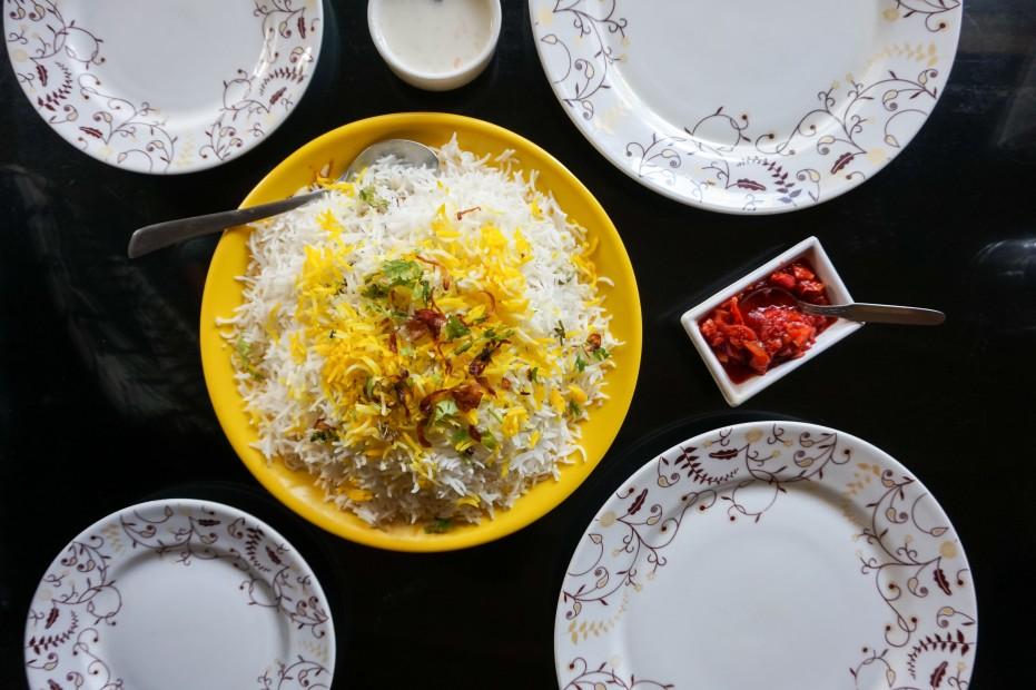 Bhatkali Biryani at Ali Baba Cafe