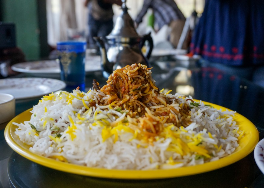 Bhatkali Biryani at Alibaba Cafe